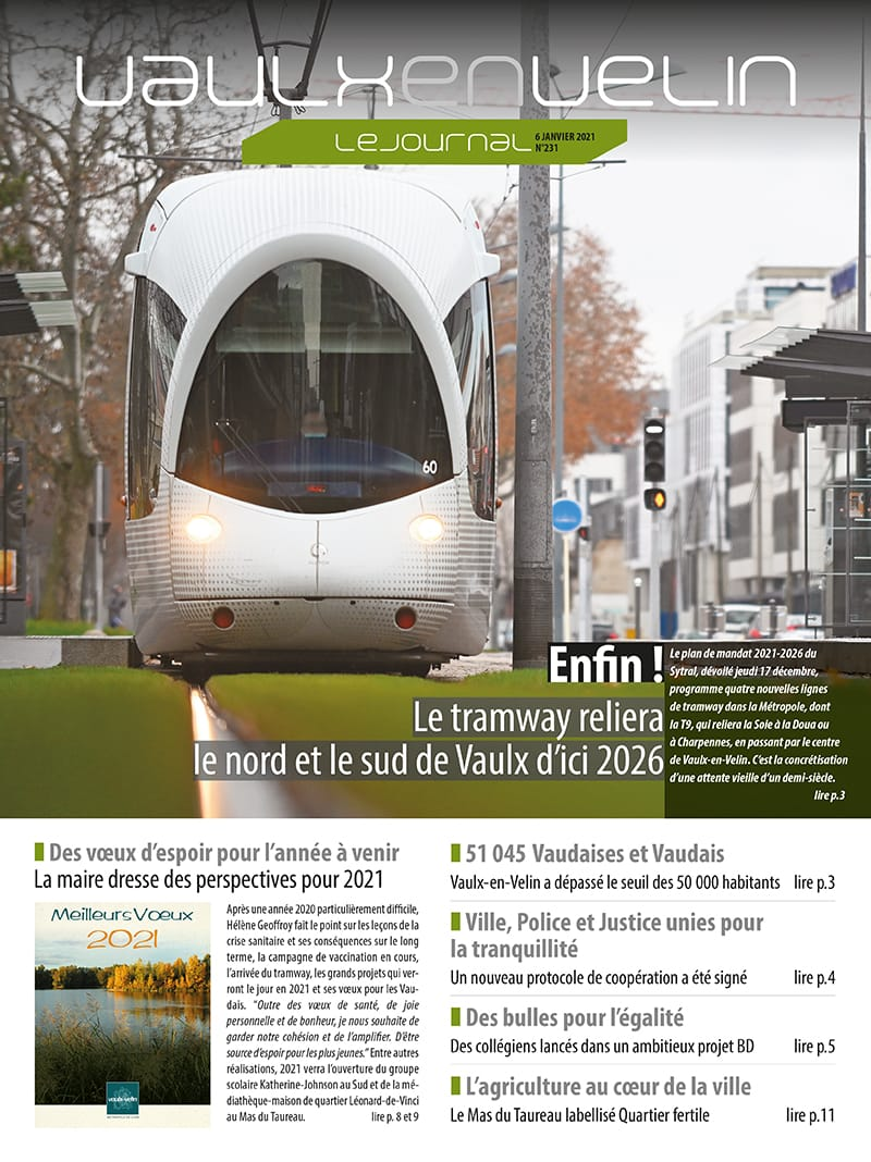 Vaulx-en-Velin le Journal - numéro 231 - 6 janvier 2021