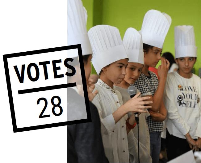 Enfants en train de cuisiner - Projet VRAC