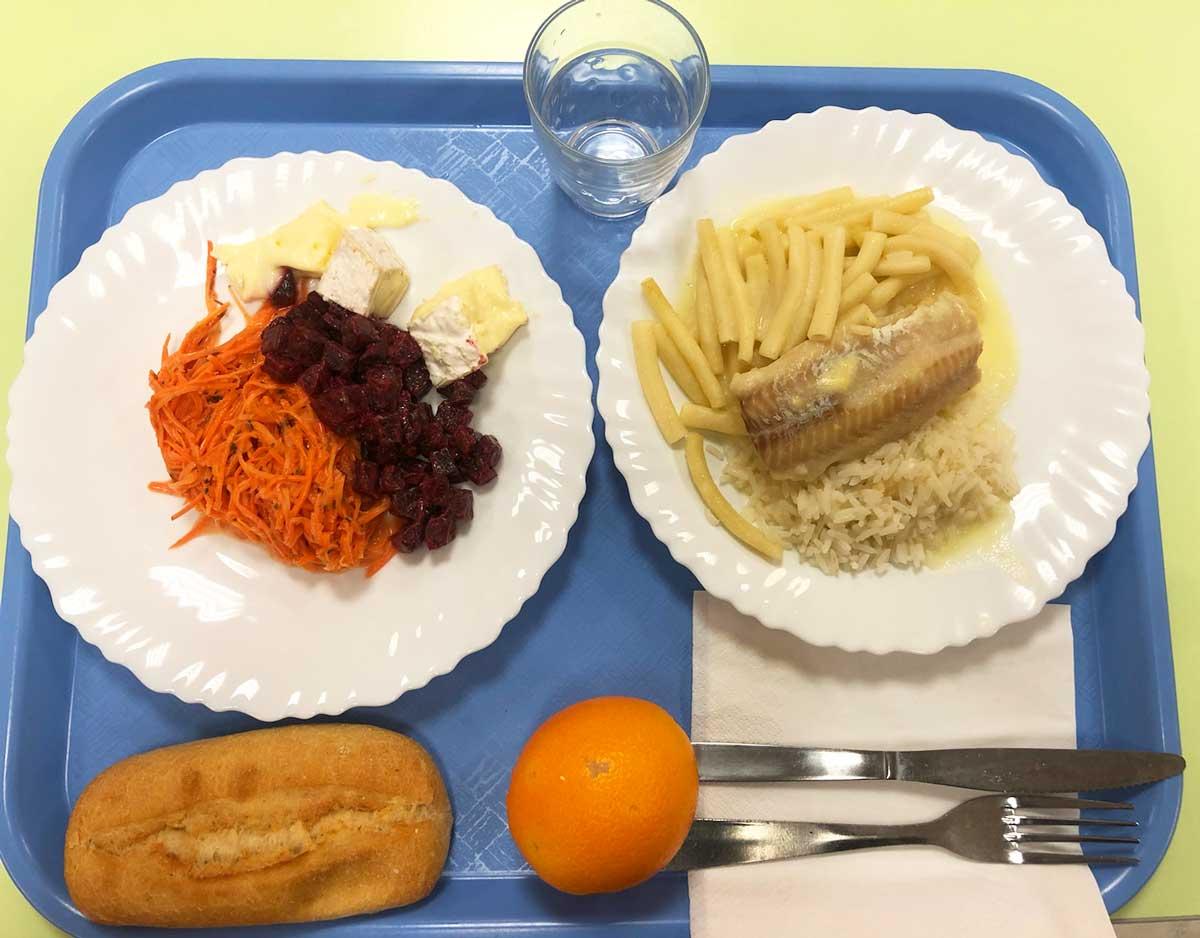 École Makarenko - plateau repas - février 2021
