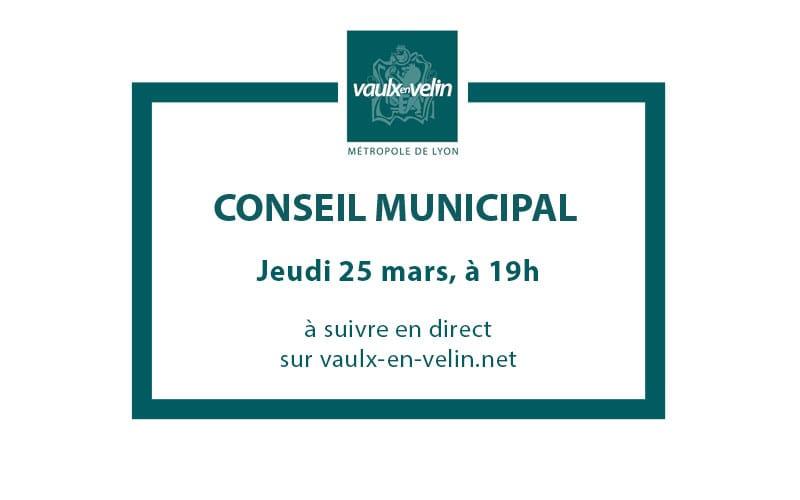 Conseil Municipaljeudi 25 mars 2021, à 19hen visio & en direct