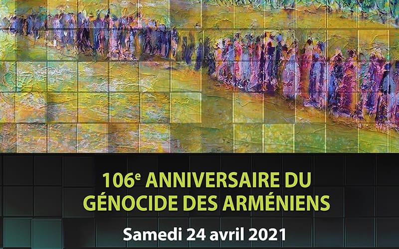106ème anniversaire du génocide des arméniens