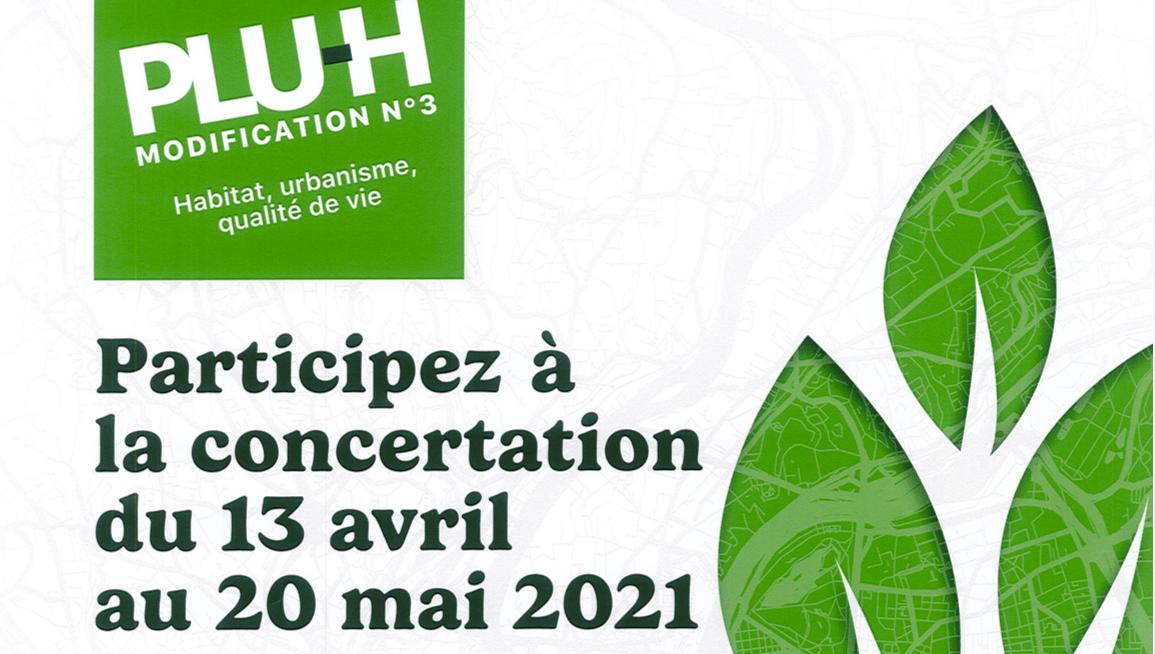 Concertation PLU-H du 13 avril au 20 mai 2021