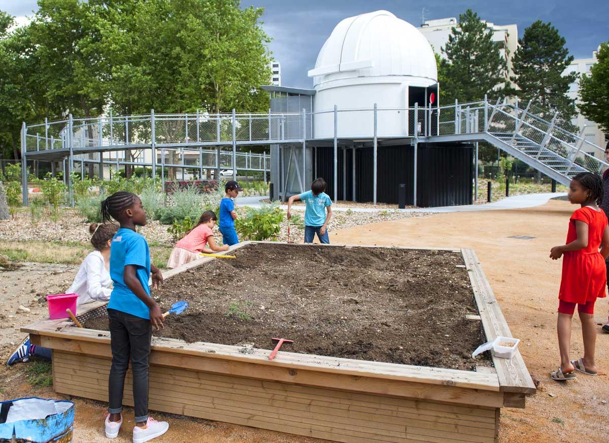 Activités périscolaires au jardin astronomique du Planéraium de Vaulx-en-Velin - juin 2017