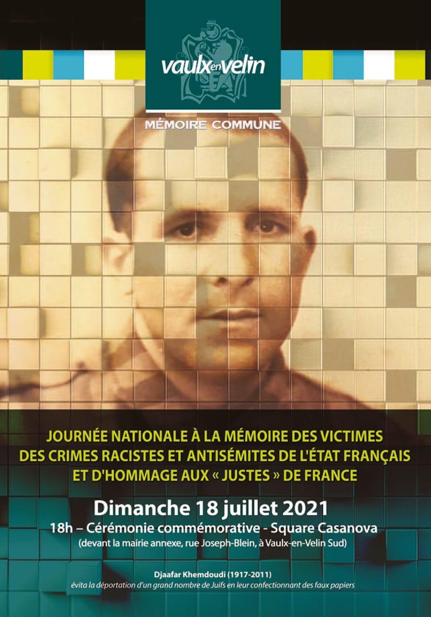 """Journée nationale à la mémoire des victimes des crimes racistes et antisémites de l'État français et d'hommage aux """"Justes"""" de France"""