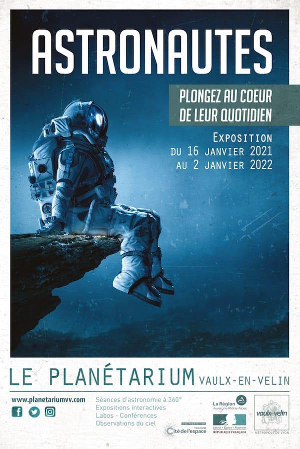 Affiche exposition Astronautes - Planétarium
