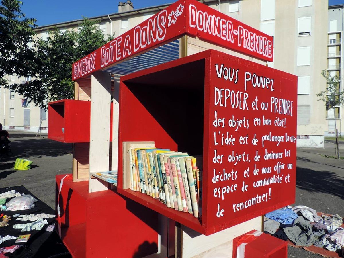 Boite à partage - Bibliothèque Perec