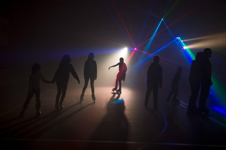 Soirée roller disco mars 2019 au gymnase Croizat