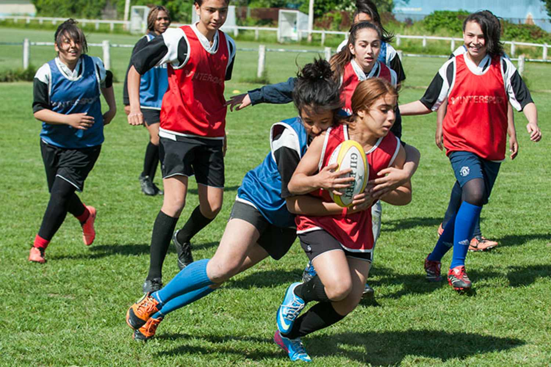 Rugby au collège Barbusse en 2015