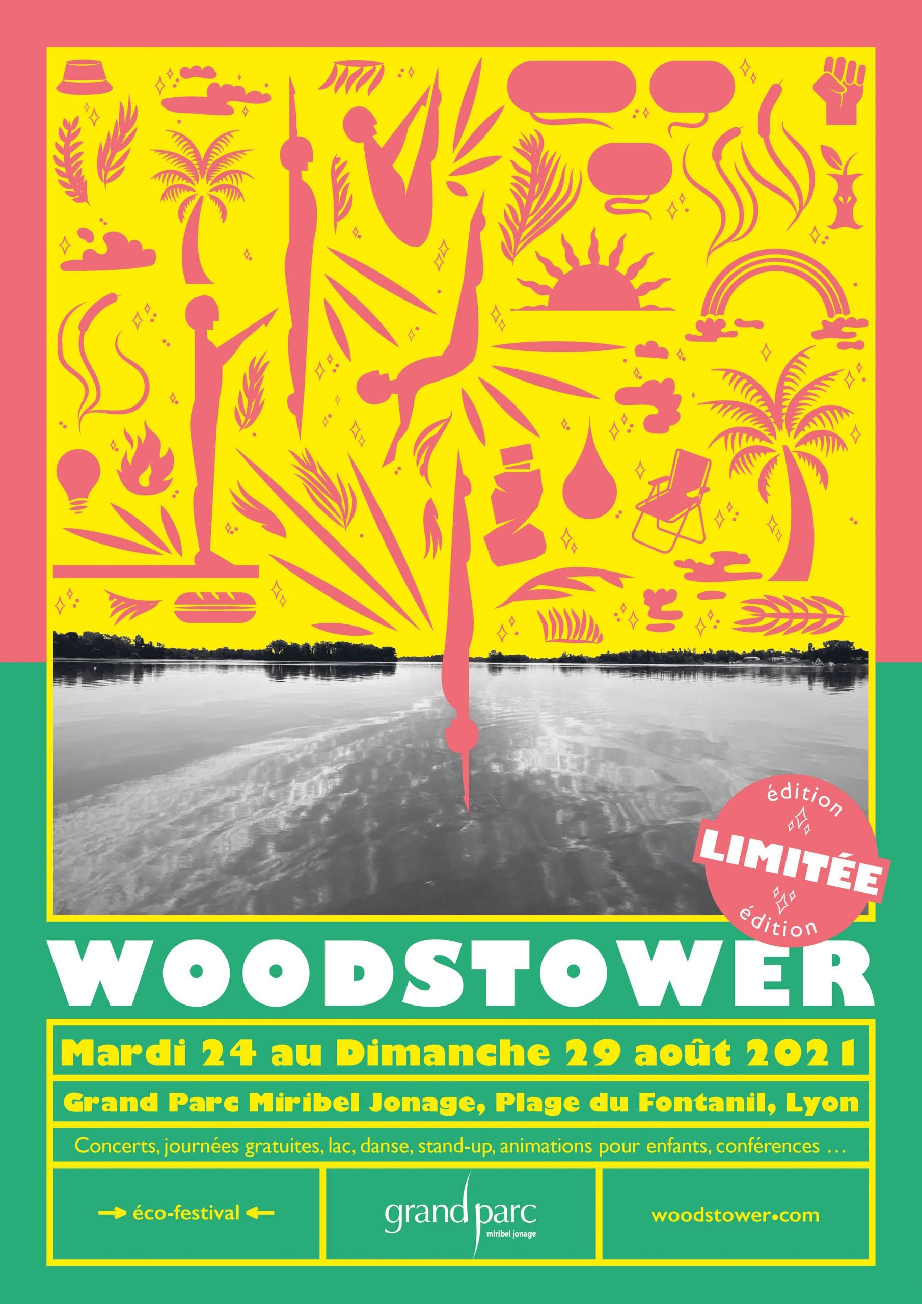 affiche festival Woodstower