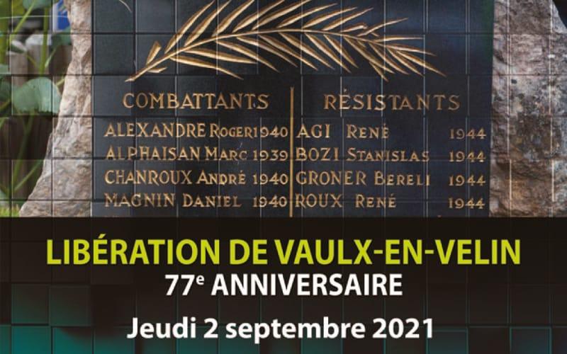 Cérémonie commémorative du 77ème anniversaire de la Libération de Vaulx-en-Velin