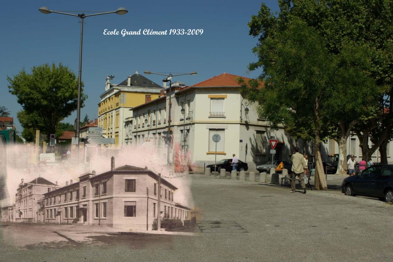 École Grand Clément du village de Vaulx-en-Velin en 1933 et 2009