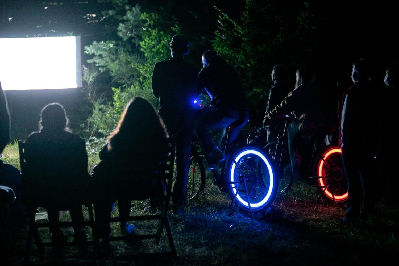 Séance de cinécyclo - Association du festival du film court francophone - Tournée du Morvan - 2020
