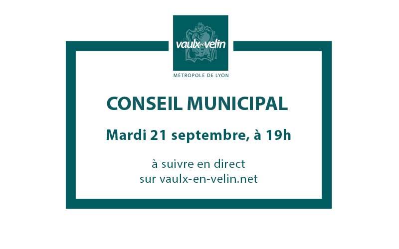 Conseil Municipal mardi 21 septembre 2021, à 19h en direct