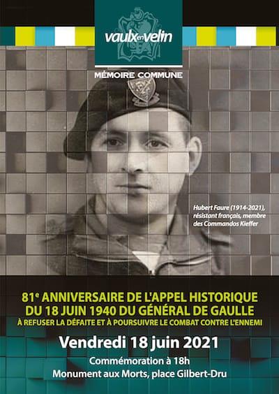 Affiche - Commémoration - Appel du 18 juin