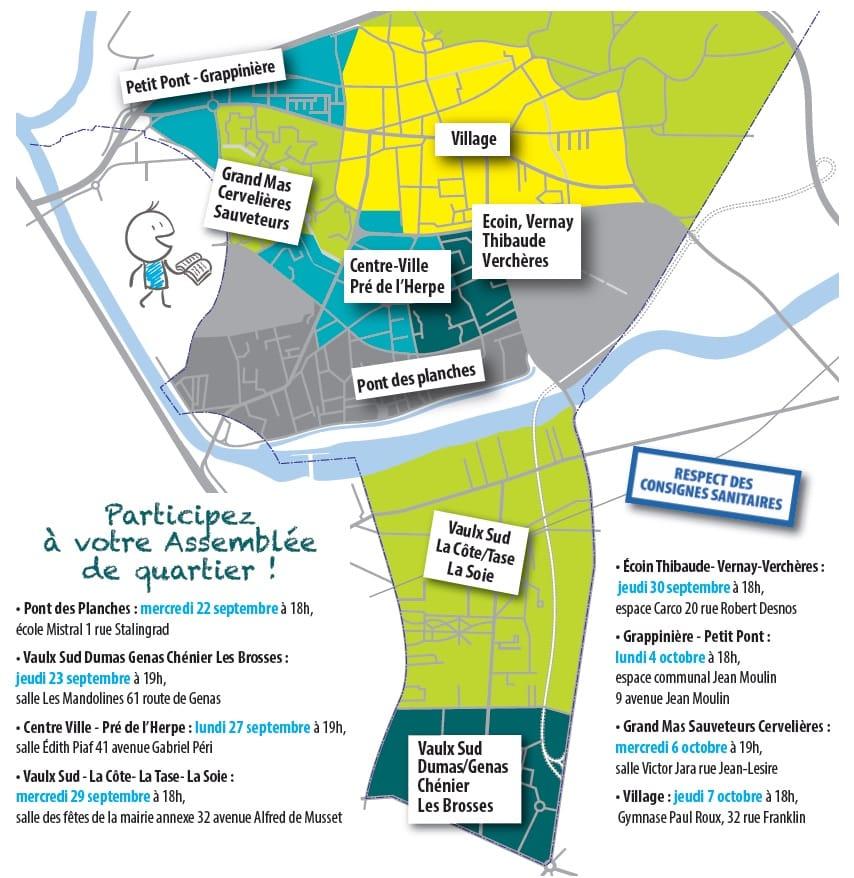 Carte - Conseils de quartier