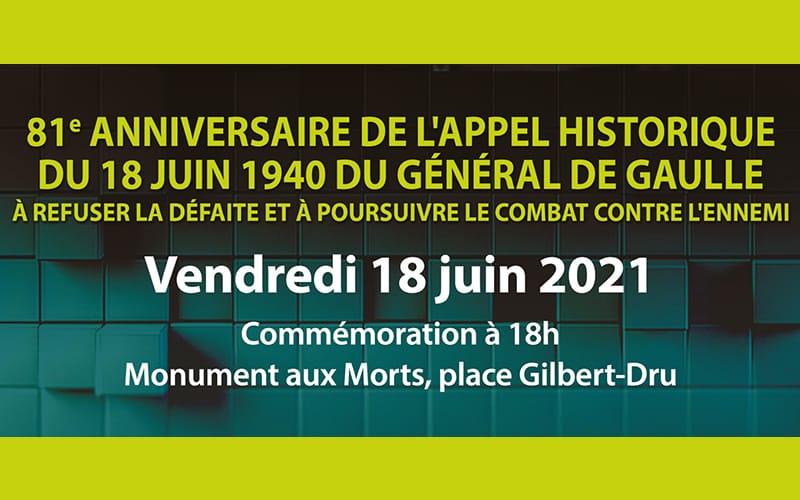 Commémoration - Appel du 18 juin