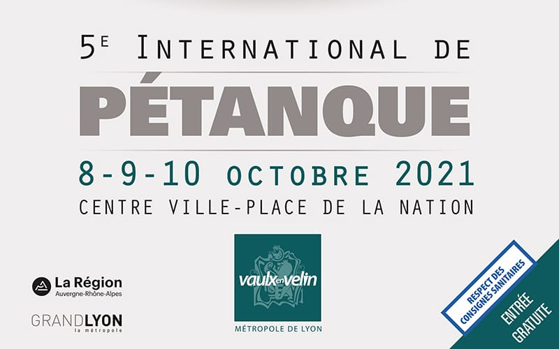5e INTERNATIONAL DE PÉTANQUE DE VAULX-EN-VELIN