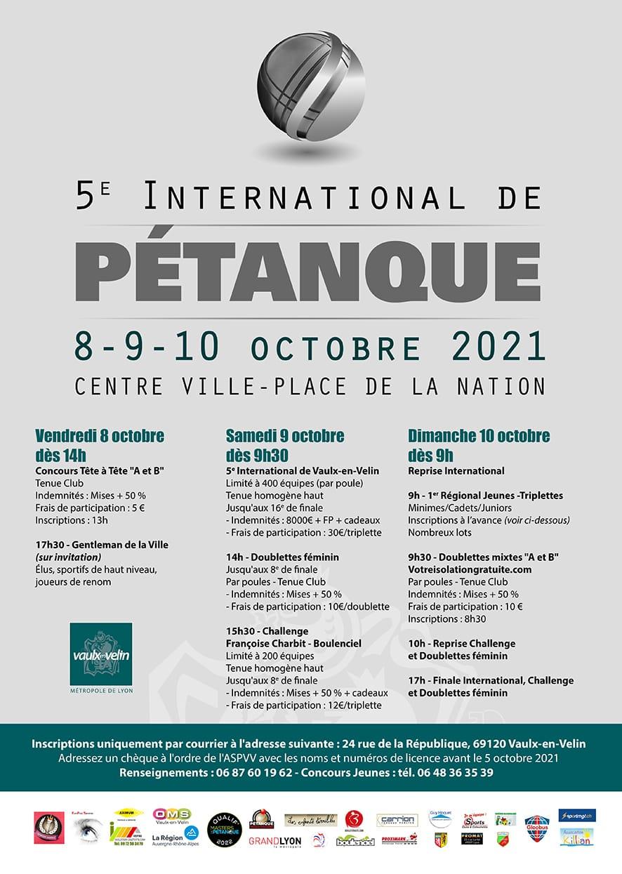 5e International pétanque