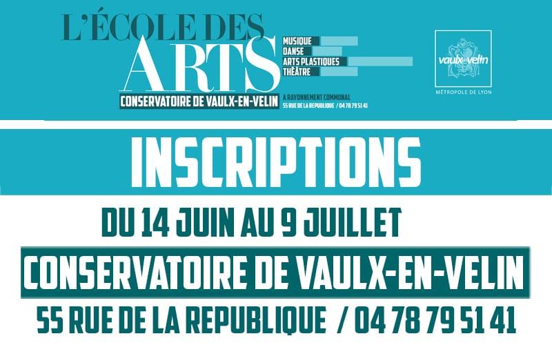 Visuel Inscriptions 2021 - École des Arts