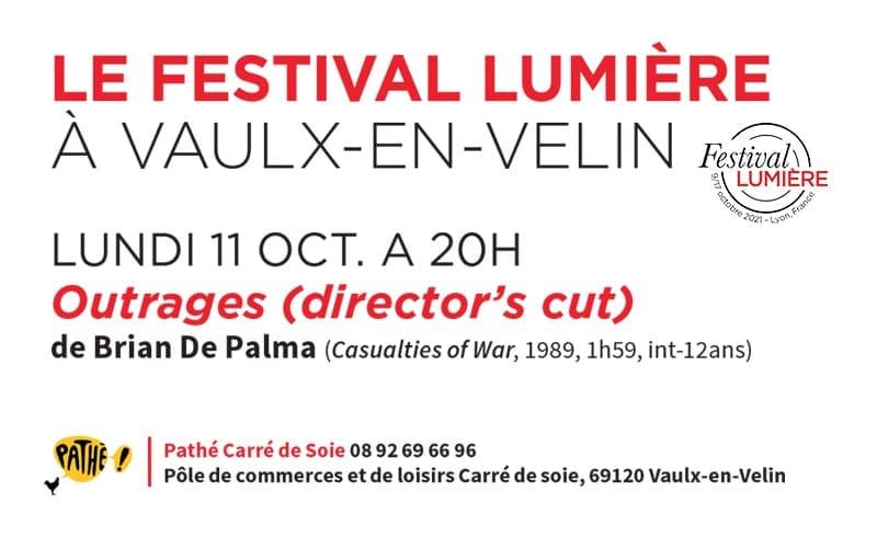 Lundi 11 octobre, le Festival Lumière s'invite à Vaulx-en-Velin !
